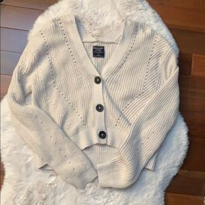 NWOT Abercrombie & Fitch Button up cardigan M